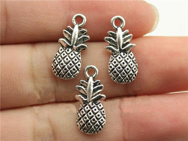 Antique Silver Pineapple Charms