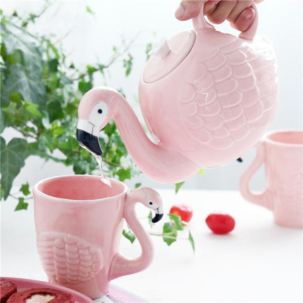 Creative Flamingo Tea Set