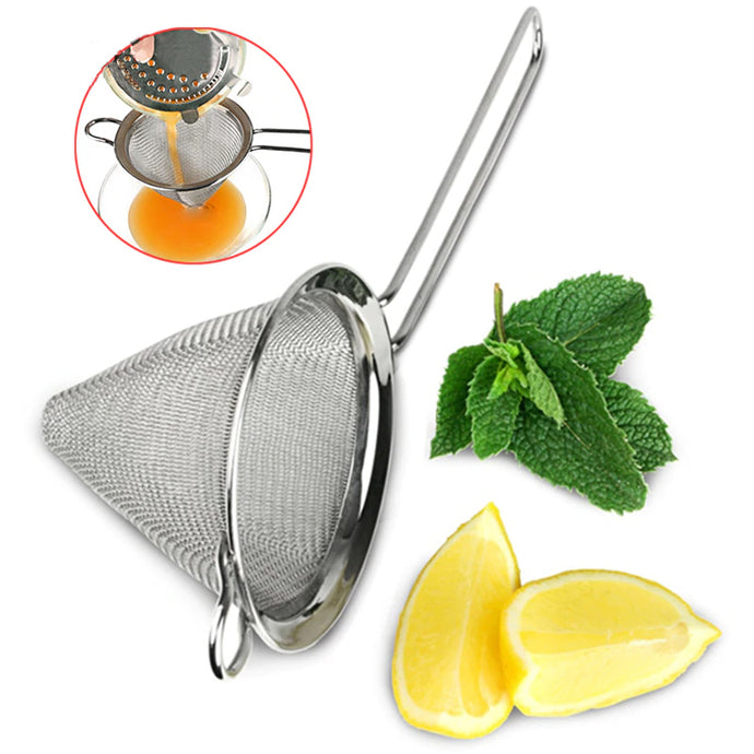 Stainless Steel Conical Cocktail Strainer