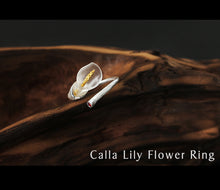 Sterling Silver Calla Lily Flower Ring
