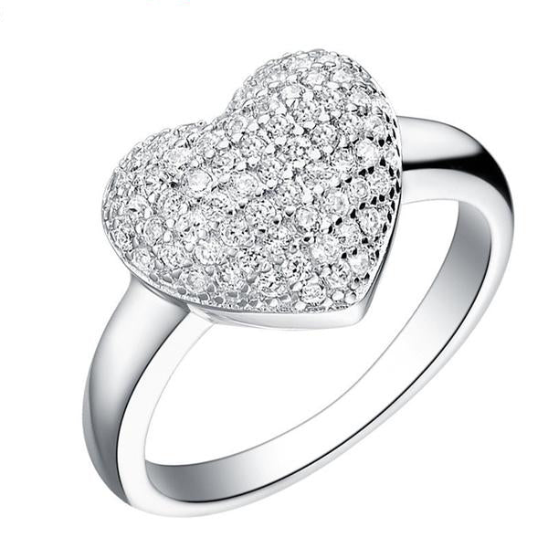 Micro Pave Silver Plated Rings for Women