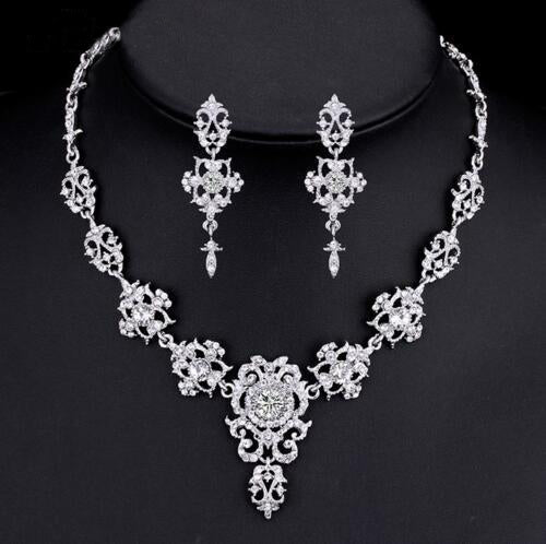 Classic Crystal Bridal Jewelry Sets