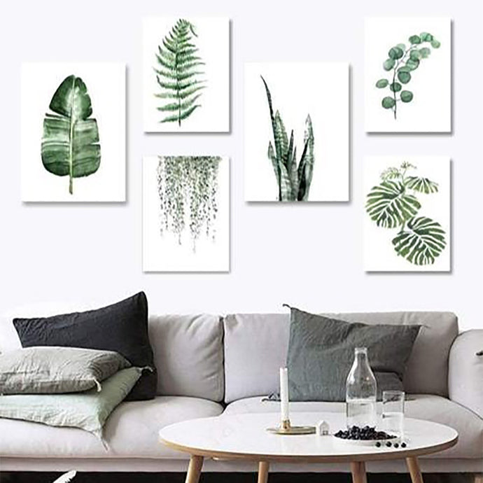 Tropical Plant Leaves Canvas Art Painting