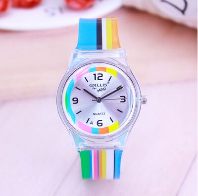 Rainbow Stripes Watch