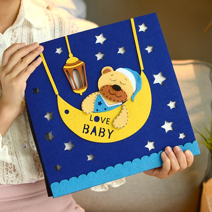 DIY Baby growing up photo album