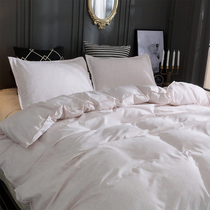 White Soft Linen Bedding Set