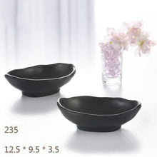 Black Melamine Butter Dish Tableware