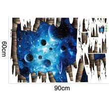 3D Dark Blue Galactic Wall Stickers
