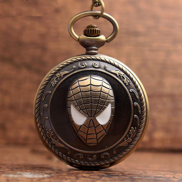 Spiderman Design Bronze Pocket Watch