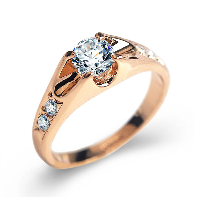 Top Quality Crystals Wedding Rings