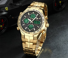 Gold Clock Army Sports Watch