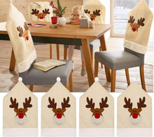 Christmas Deer Hat Chair Covers