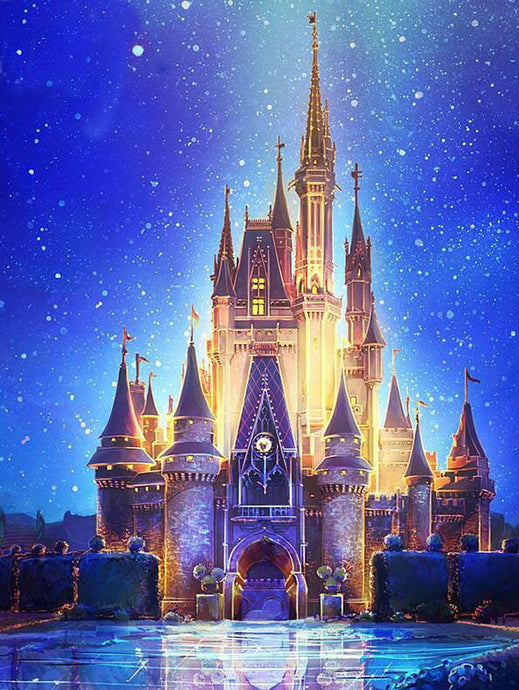 Disney Castle Scenic Painting