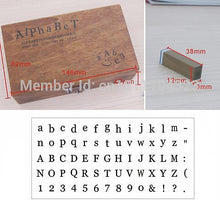 Alphabet Number & Symbol Wooden Stamp