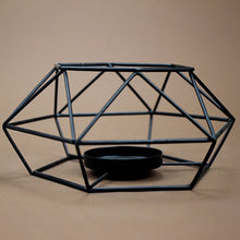 3D Black Metal Candle Holder