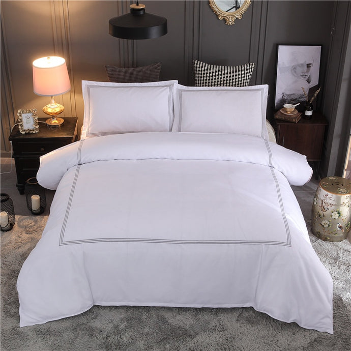 Luxury Embroidered Duvet Cover Set