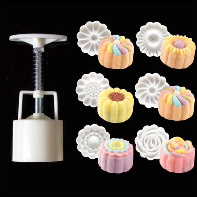 Flowers Pattern Mooncake Mold Set