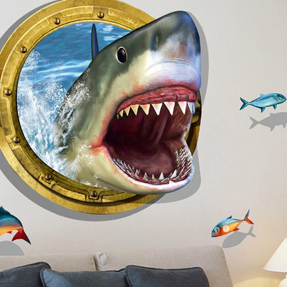 3D Shark Decoration DIY Stickers