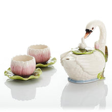Creative Swan Porcelain Tea Set