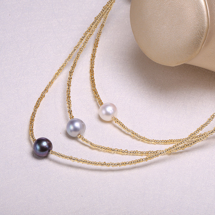 Threaded Pearl Necklace