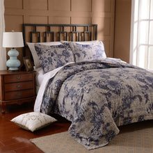 3 pcs Luxury Printed Bed Cover