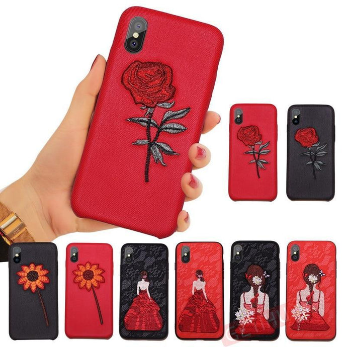 Luxury Embroidery iPhone Cases
