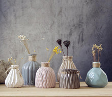 Ceramics Pottery Pleated Vase