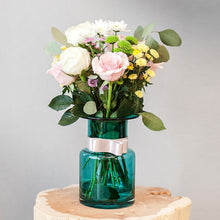 Blue Flower Vase Christmas Decoration