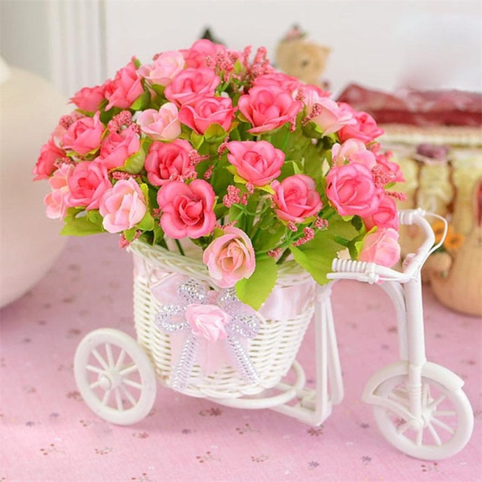 Bike Flower Basket Vase Party Decor