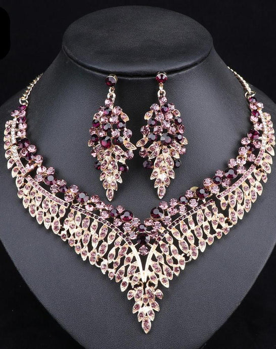 Big Crystal Bridal Jewelry Sets