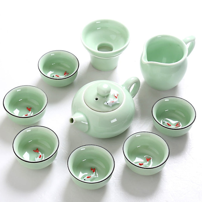Celadon Ceramic Tea Set