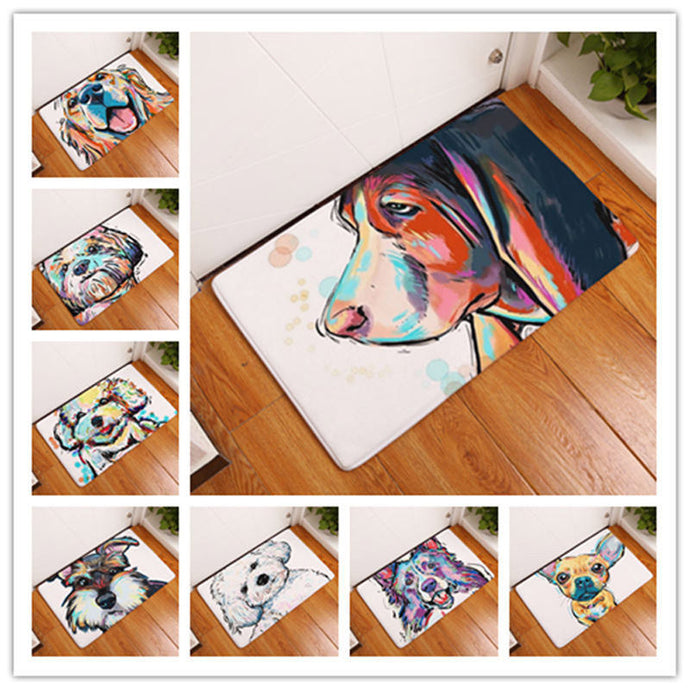 Lovely Painting Dog Carpets