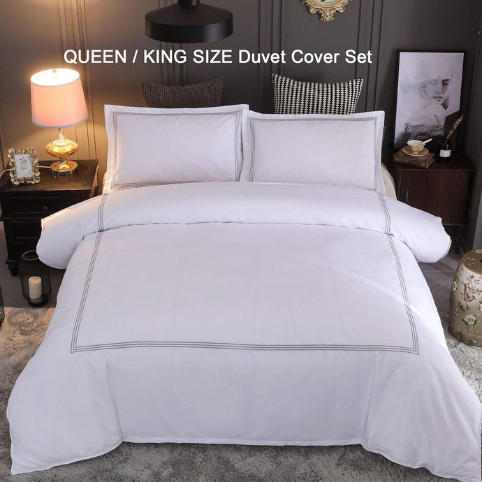 Embroidery Soft Duvet Cover Set