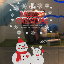 Christmas Snowman Window Sticker