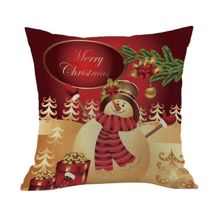 Merry Christmas Pillow Case Snowman