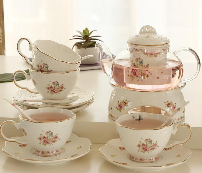 Classic Flower Tea Set