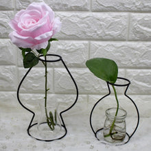 Abstract Iron Frame Vase