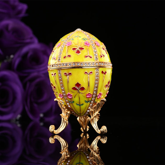 New Arrive Yellow Faberge Egg