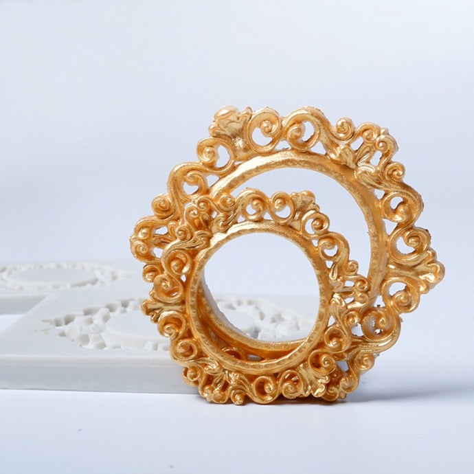 Vintage Lace Frame Silicone Mold