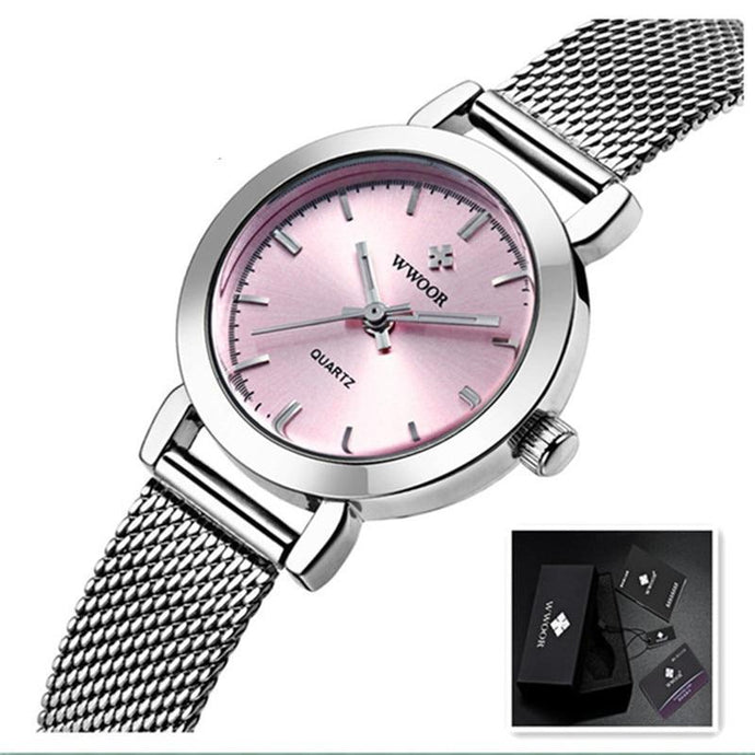 Stainless Steel Luxury Bracelet Wristwatch