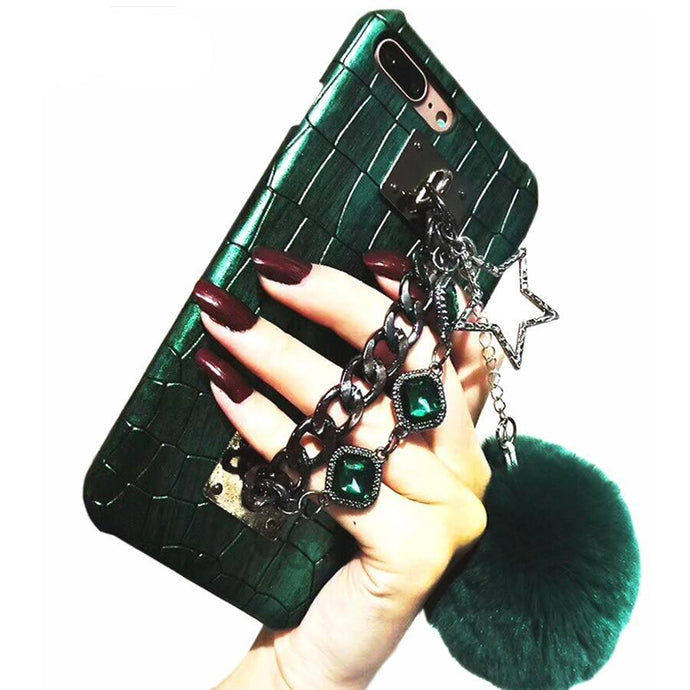 Crocodile Skin Diamond Gem Iphone Case