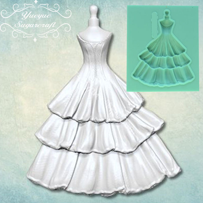Newest Dress Fondant Mold