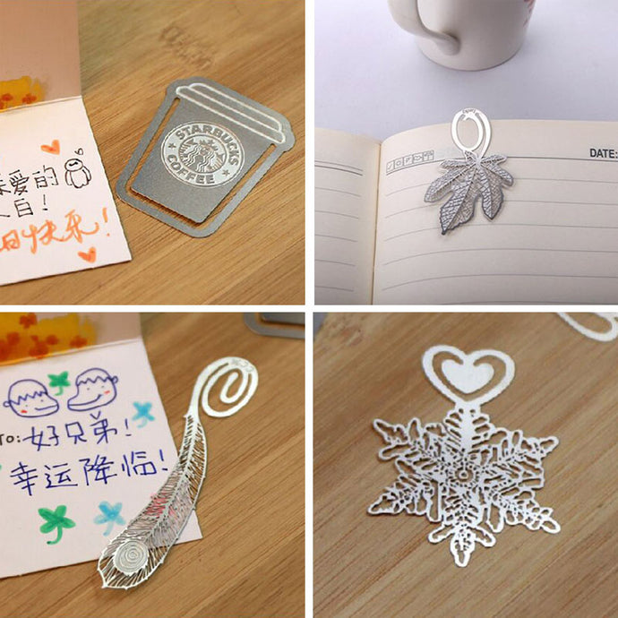 Silver Novelty Metal Bookmarks