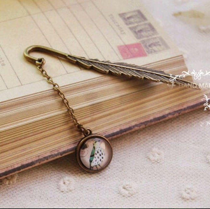 Vintage Feather Metal Bookmark