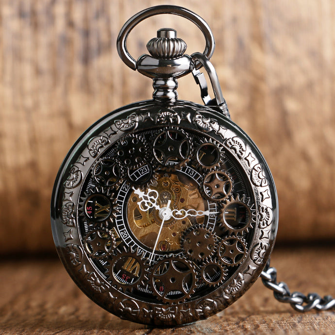 Exquisite Gear Wheel Hollow Pocket Watch