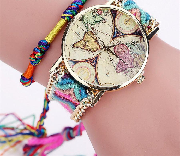 Handmade Braided Bracelet Watch