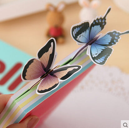 Novelty Vivid Butterfly Paper Bookmark