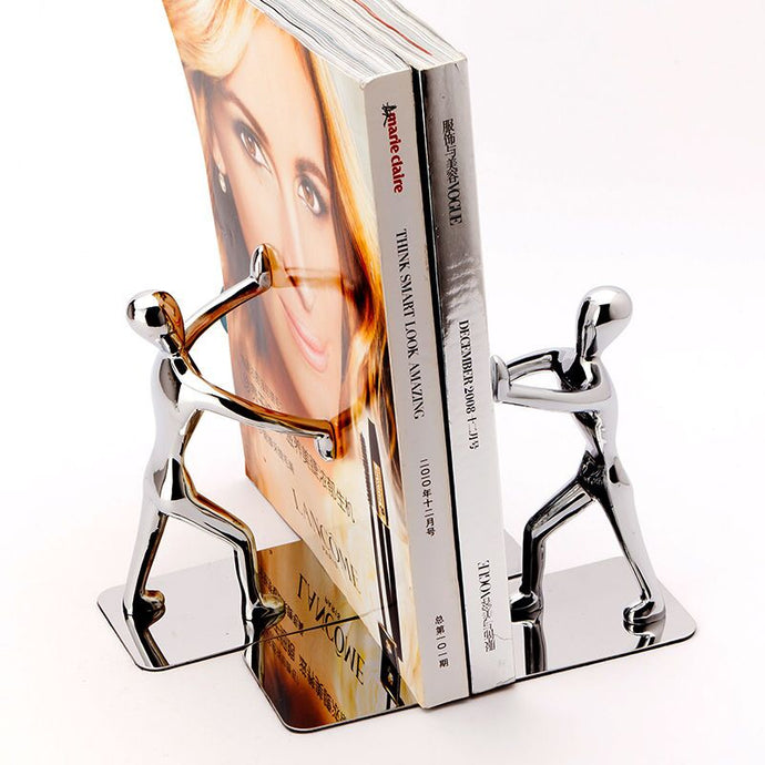 Cool Metal Stainless Human Shaped Bookend