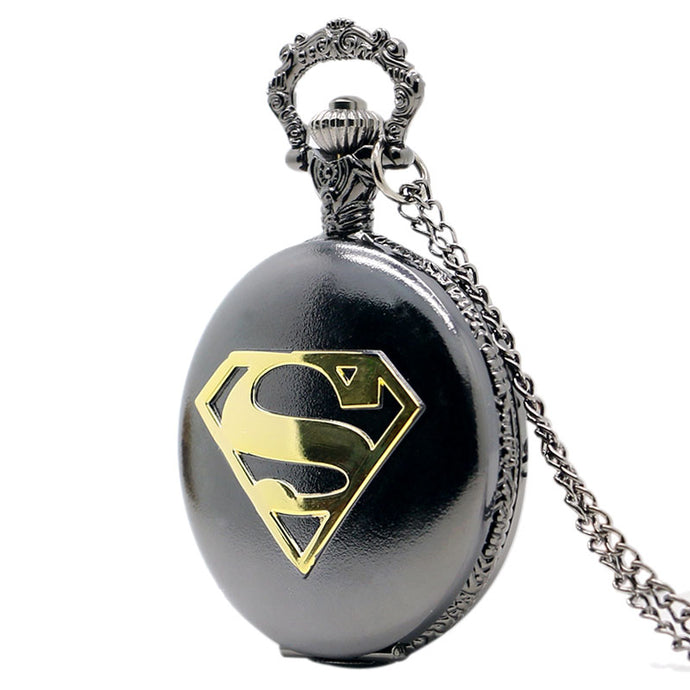Superman Case Pocket Watch