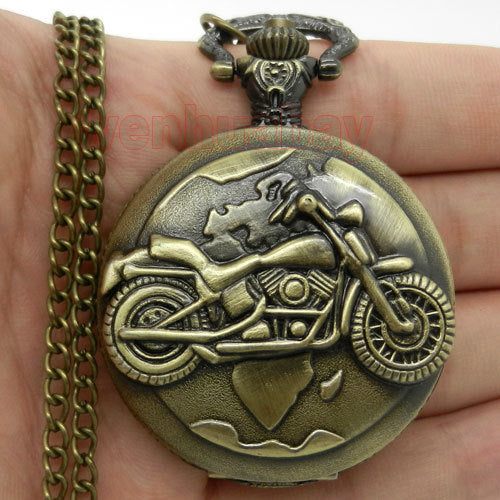 Antique Motorbike Pocket Watch